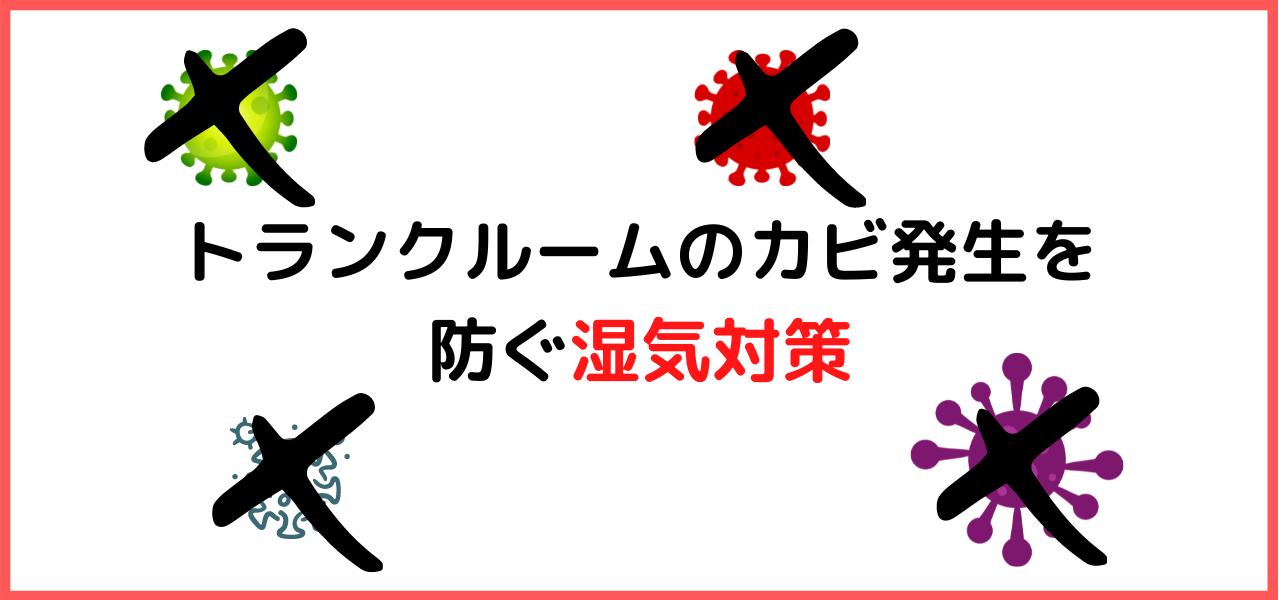 トランクルームのカビ発生を防ぐ湿気対策